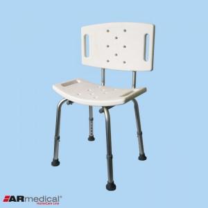 AR-203 Krzesło prysznicowe z oparciem aluminiowe